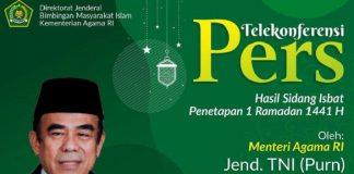 Kemenag Gelar Sidang Isbat Online Tentukan Awal Ramadhan.