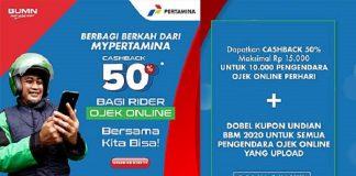 Pertamina Beri Ojek Online Cashback Hingga Rp13,5 Miliar.