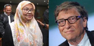 Siti Fadilah dan Bill Gates.
