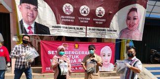 Iis Edhy Prabowo Berikan Bantuan Warga Imbas Covid-19.