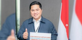Menteri Badan Usaha Milik Negara (BUMN)Erick Thohir.