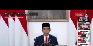 Presiden Jokowi Resmikan Peluncuran Produk Ristek dan Inovasi untuk Penanganan Covid-19.