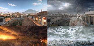 Ilustrasi Kota Pompeii.