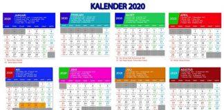 Jadwal Libur Nasional dan Cuti Bersama Lebaran 2020.