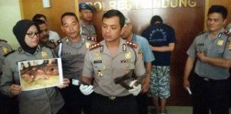 Polisi Bongkar Sindikat Penjual Daging Babi di Bandung.