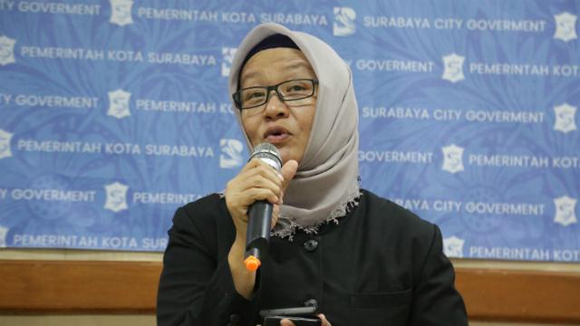 Foto: Koordinator Bidang Pencegahan Gugus Tugas Percepatan Penanganan COVID-19 Surabaya Febria Rachmanita