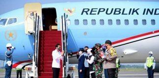 Presiden Jokowi Akan Tinjau Posko Penanganan dan Penanggulangan Covid-19 Jawa Timur.
