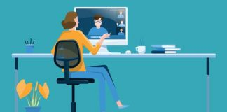 Illustrasi Work From Home (WFH)