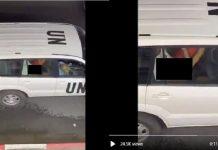 Viral, Video Adegan Syur Dalam Mobil Dinas PBB di Israel.