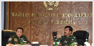 Ketua MPR RI Bambang Soesatyo (Bamsoet) dan Panglima TNI Marsekal Hadi Tjahjanto.