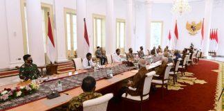 Presiden Joko Widodo (Jokowi) menerima purnawirawan TNI-Polri dan legiun veteran Indonesia di Istana Kepresidenan Bogor, Jawa Barat, pada Jumat, 19 Juni 2020.
