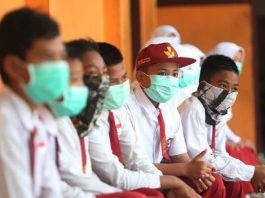 Ilustrasi sekolah saat pandemi Corona