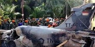pesawat tempur milik TNI AU dilaporkan jatuh di daerah pemukiman warga di Desa Kubang Jaya, Kecamatan Siak Hulu, Kabupaten Kampar, Riau.
