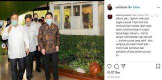 Menteri BUMN Erick Thohir menggelar pertemuan dengan Menteri Pertahanan (Menhan) Prabowo Subianto.