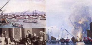 perang antara Inggris dan China yang disebut sebagai Perang Opium I meletus.