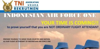 Foto : Poster Pendaftaran Pramugari TNI AU
