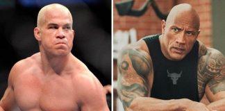 mantan petarung UFC,Tito Ortiz dan Dwayne Johnson (The Rock).