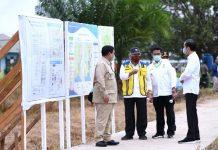 Presiden Jokowi Tinjau Lokasi Pengembangan Lumbung Pangan Nasional di Kabupaten Kapuas.