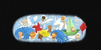Google Doodle Tampilkan Tema Hari Anak Nasional.