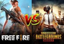 Game Free Fire dan PUBG.