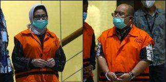 Bupati Kutai Timur Ismunandar Bersama Dengan Istrinya Ketua DPRD Encek UR Firgasih Ditahan Oleh KPK