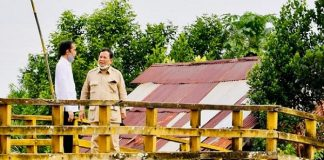 Presiden Joko Widodo (Jokowi)dan Menteri Pertahanan (Menhan) Prabowo Subianto.