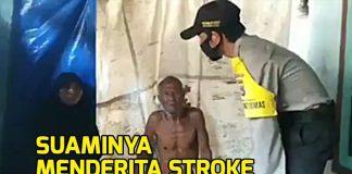 Viral, Video Istri Tega Aniaya Suami yang Stroke.