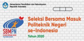 Hasil Seleksi Bersama Masuk Politeknik Negeri (SBMPN) 2020.