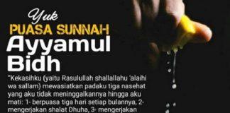 Jadwal Puasa Ayyamul Bidh Juli 2020.