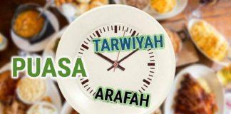 Bacaan Niat Puasa Tarwiyah dan Arafah Serta Keutamannya.
