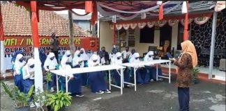 Puluhan Pelajar SMP Serbu Polsek Rajapolah Tasikmalaya.