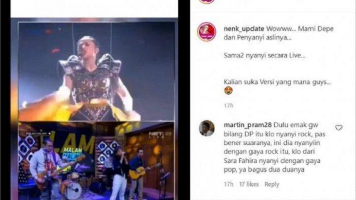 Dewi Perssik Nyanyikan Lagu Lathi Tuai Pujian.