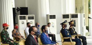 Presiden Jokowi Saksikan Geladi Peringatan Detik-Detik Proklamasi Kemerdekaan RI.