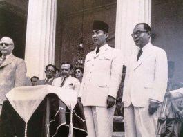 Ilustrasi Ir Soekarno sebagai presiden dan Drs Mohammad Hatta sebagai wakil presiden.