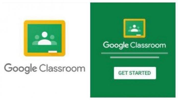 Aplikasi Google Classroom.