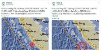 Gempa Bengkulu Adalah Gempa Kembar.