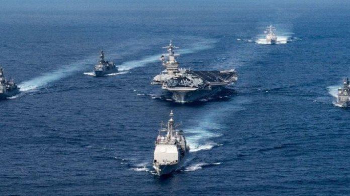 Kapal Induk Amerika Gelar Latihan di Laut China Selatan.