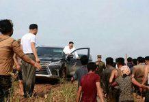 Kim Jong-un Sambangi Desa Dilanda Banjir Naik Mobil Mewah.