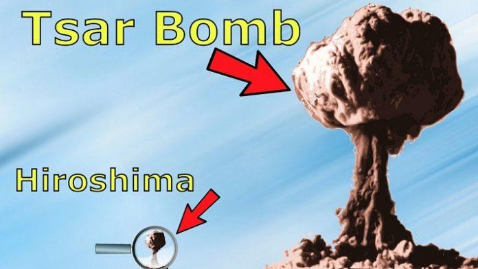 Ilustrasi Bom Nuklir Terkuat Sejagad Tsar Bomba.