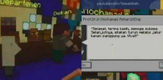 ITS Gelar Acara Wisuda Online Pakai Game Minecraft.