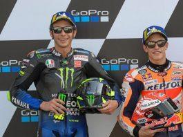 Valentino Rossi dan Marc Marquez.