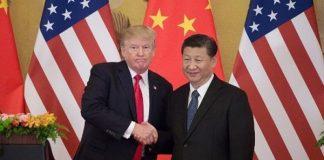 Presiden Amerika Serikat Donald Trump dan PresidenChinaXi Jinping.