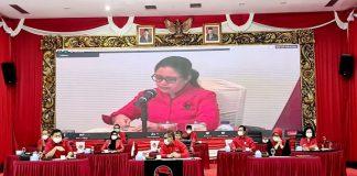 Ketua DPP PDI Perjuangan Puan Maharani di sela pengumuman tahap kelima calon kepala daerah melalui konferensi video, Rabu (2/9/2020).