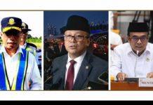 Menteri Perhubungan Budi Karya Sumadi, Menteri Kelautan dan Perikanan Edhy Prabowo, dan Menteri Agama Fachrul Razi.