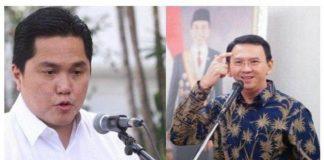 Menteri Badan Usaha Milik Negara (BUMN) Erick Thohirdan Komisariat Utama (Komut) PT Pertamina (Persero) Basuki Tjahaja Purnama atau Ahok.