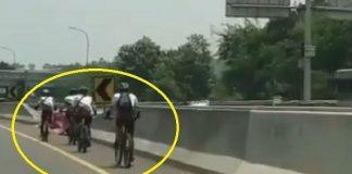 Viral, Video Konvoi Pesepeda Lawan Arus di Tol Jagorawi.