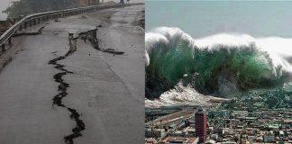 Ilustrasi Gempa Bumi dan Tsunami.