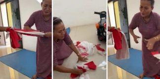 Viral Video Emak-Emak Gunting Bendera Merah Putih.