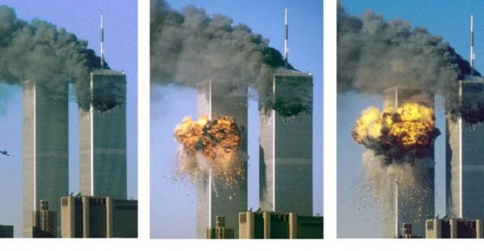 Tragedi Menara Kembar WTC Amerika Serikat.