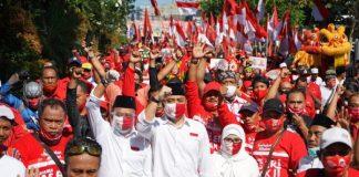 Pilkada Surabaya 2020, Risma Kawal Pendaftaran Eri-Armuji ke KPU.